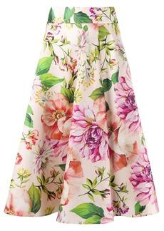 Dolce & Gabbana flower print midi skirt