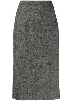 Dolce & Gabbana fluted tweed skirt