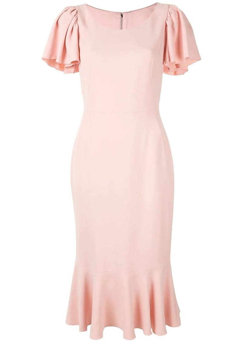 Dolce & Gabbana flutter sleeve midi dress