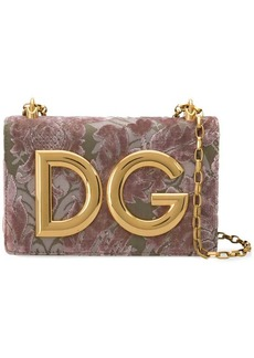 Dolce & Gabbana DG Girls velvet brocade shoulder bag