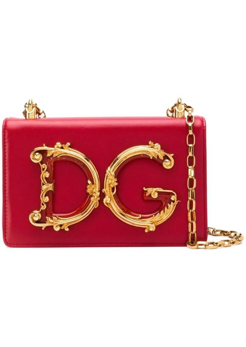 Dolce & Gabbana foldover logo shoulder bag