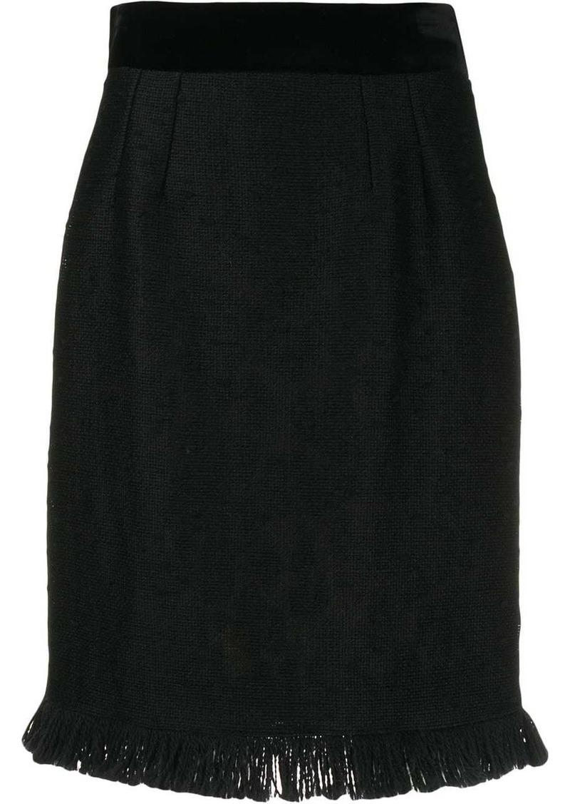 Dolce & Gabbana frayed hem skirt