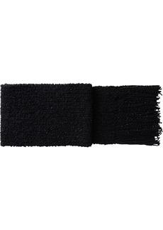 Dolce & Gabbana chunky knit fringed scarf