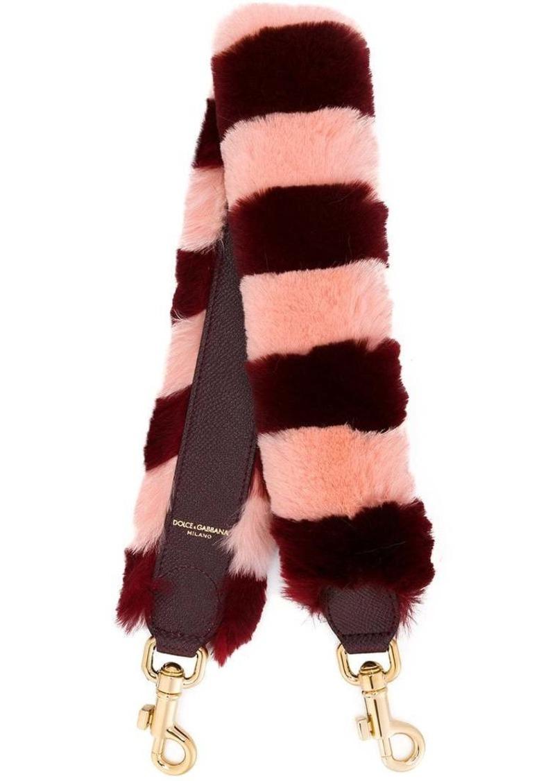 Dolce & Gabbana fur bag charm