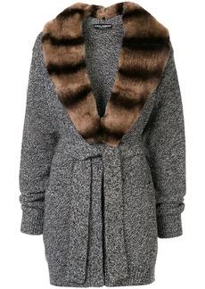 Dolce & Gabbana fur collar cardi-coat