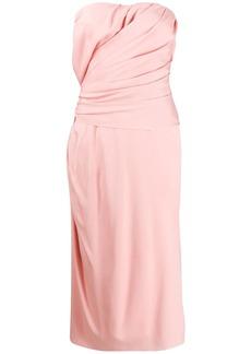 Dolce & Gabbana gathered-detailing midi dress
