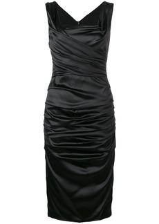 Dolce & Gabbana gathered ruffle midi dress