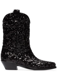 Dolce & Gabbana Gaucho 40 Sequined Cowboy Boots