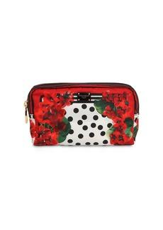 Dolce & Gabbana Geranium Print Nylon Make Up Bag