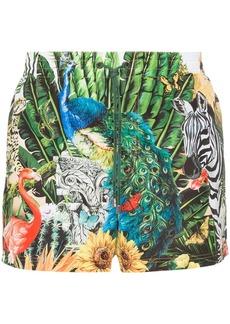Dolce & Gabbana Giardino animal print swim shorts