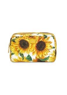 Dolce & Gabbana Girasoli Printed Nylon Make-up Bag