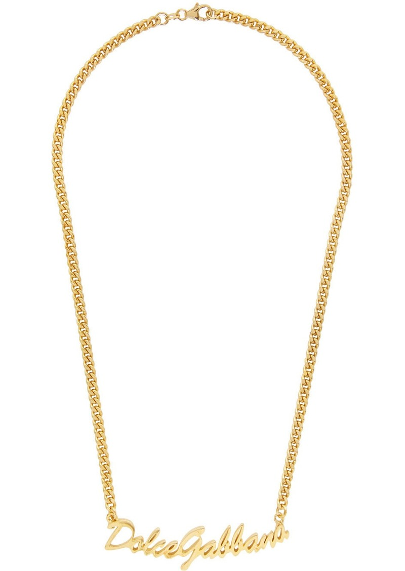 Dolce & Gabbana Gold Logo Necklace