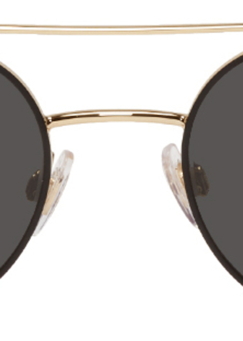 Dolce & Gabbana Gold Metal Round Sunglasses