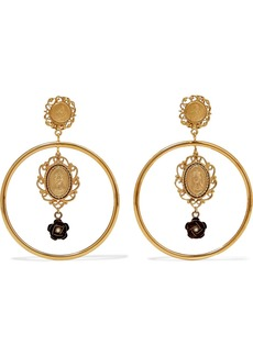 Dolce & Gabbana Gold-tone Faux Pearl Clip Earrings