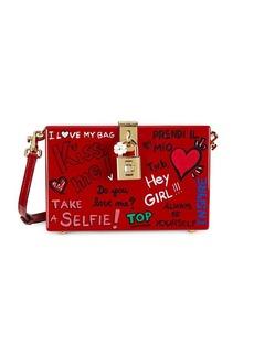 Dolce & Gabbana Graffiti Lock Box Crossbody