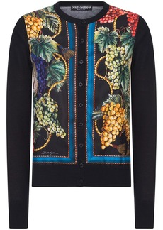 Dolce & Gabbana grape-print buttoned cardigan