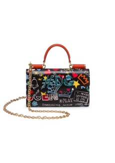 Dolce & Gabbana Graphic Leather Phone Bag