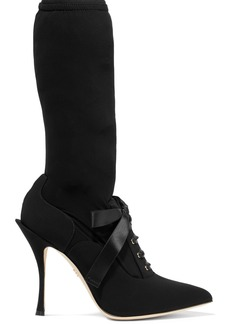 Dolce & Gabbana Grosgrain-trimmed Stretch-jersey Sock Boots