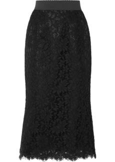 Dolce & Gabbana Guipure Lace Midi Skirt