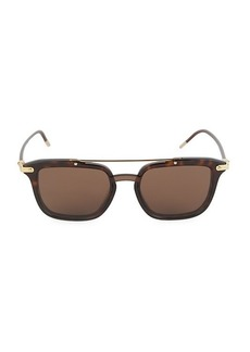 Dolce & Gabbana Havana 55MM Square Sunglasses