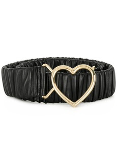 Dolce & Gabbana heart buckle ruched belt