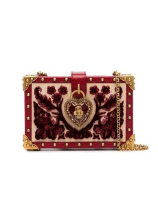 Dolce & Gabbana heart lock embellished velvet box bag