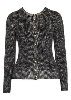 Dolce & Gabbana Herringbone Knit Wool Cardigan