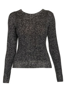 Dolce & Gabbana Herringbone Knit Wool Sweater