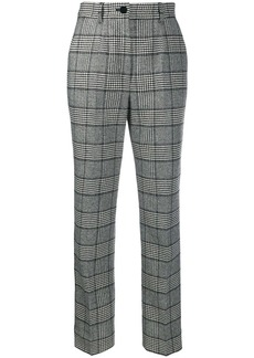 Dolce & Gabbana high-rise check trousers