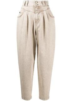 Dolce & Gabbana high-rise tapered balloon-leg jeans