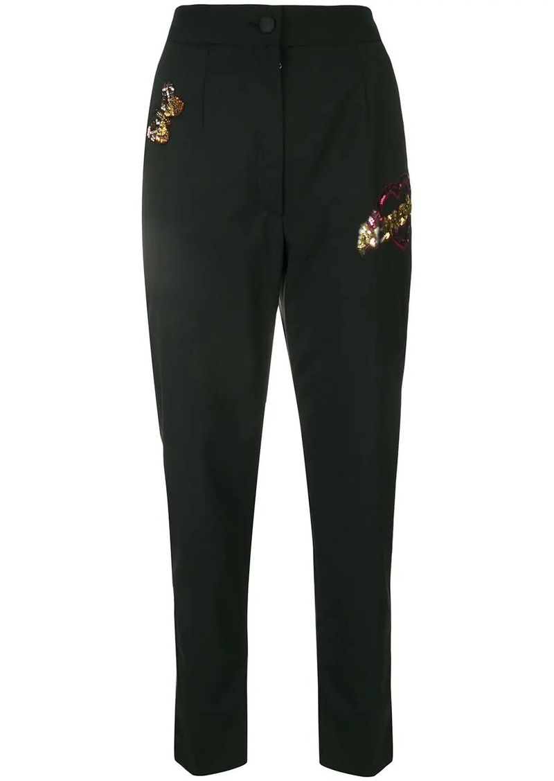Dolce & Gabbana high-waist sequin embellished trousers