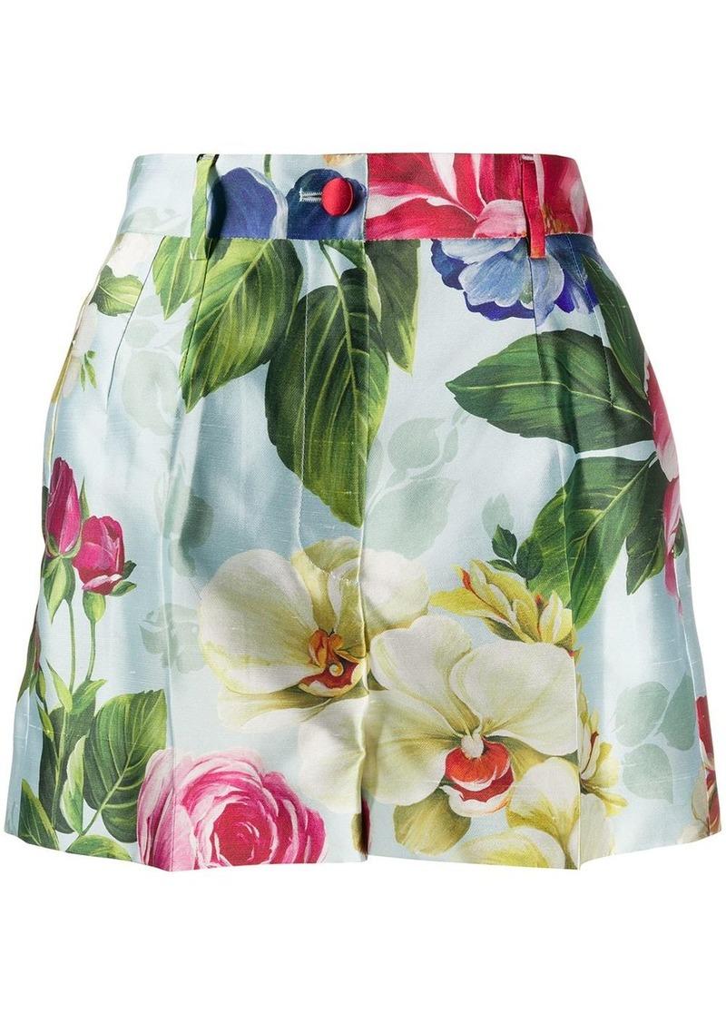 Dolce & Gabbana high-waisted floral shorts