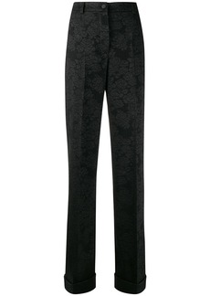 Dolce & Gabbana high waisted jacquard trousers
