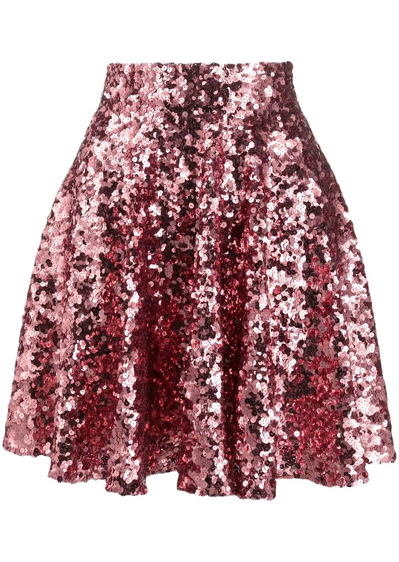 Dolce & Gabbana high-waisted sequin skirt