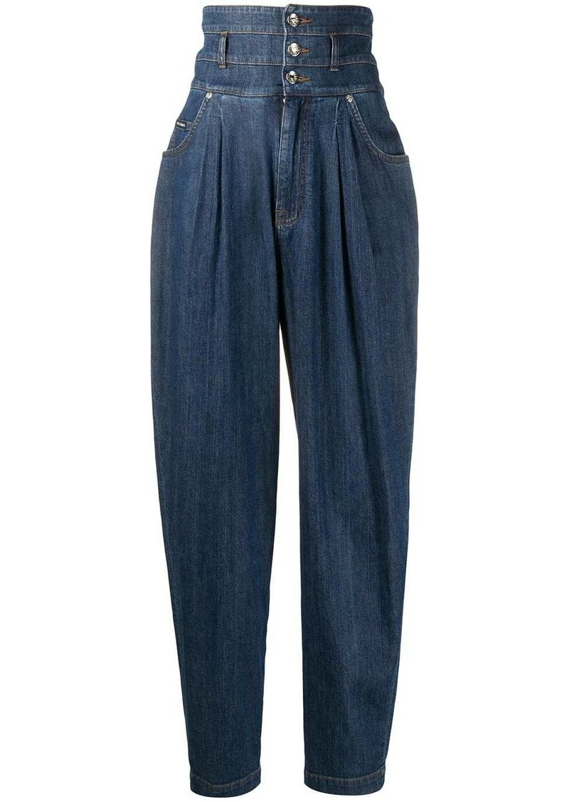Dolce & Gabbana high-waisted tapered ballon jeans