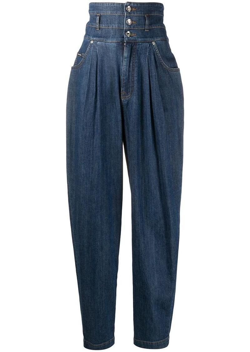 Dolce & Gabbana high-waisted tapered ballon jeans
