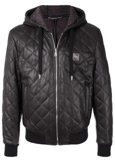 Dolce & Gabbana hooded leather jacket