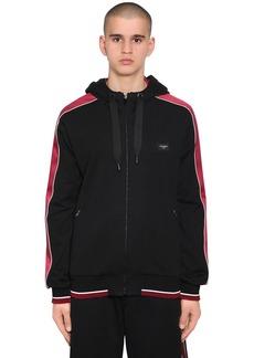 Dolce & Gabbana Hooded Zip-up Sweatshirt W/ Satin Bands