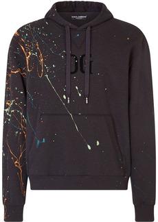 Dolce & Gabbana dripping colour effect hoodie