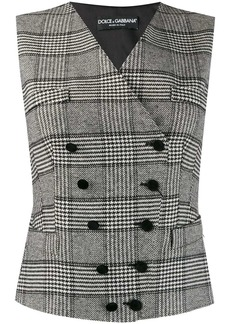 Dolce & Gabbana houndstooth check waistcoat
