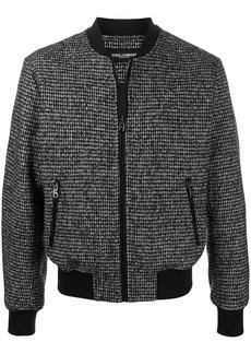 Dolce & Gabbana houndstooth-pattern bomber jacket