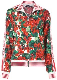 Dolce & Gabbana hydrangea printed bomber jacket