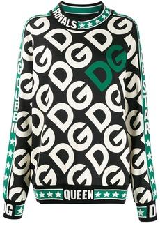 Dolce & Gabbana initials logo print sweater