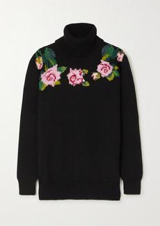 Dolce & Gabbana Intarsia Wool-blend Turtleneck Sweater