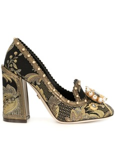 Dolce & Gabbana Jackie leaf brocade pumps