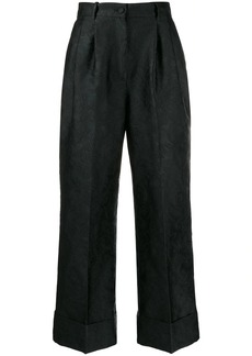 Dolce & Gabbana jacquard cropped flared trousers