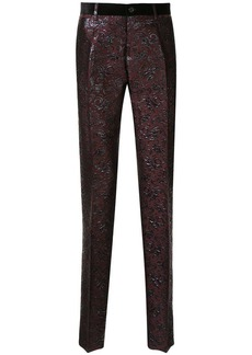 Dolce & Gabbana jacquard floral effect trousers