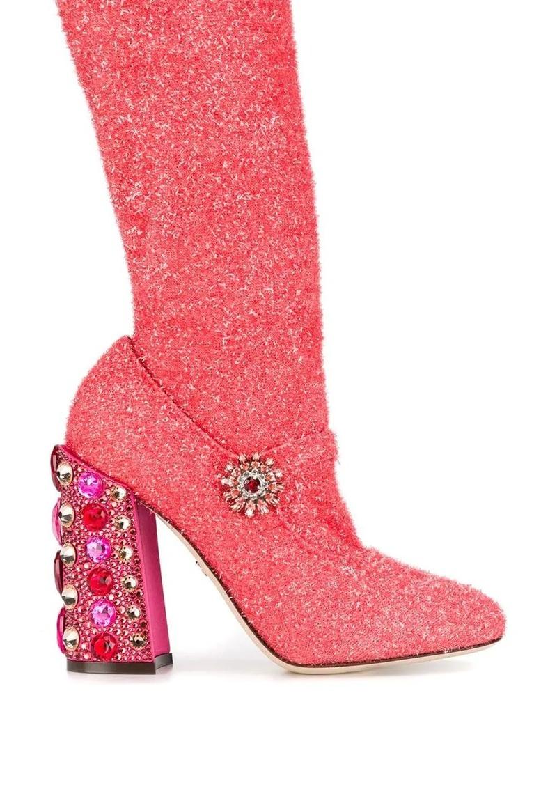 Dolce & Gabbana jewel heel boots
