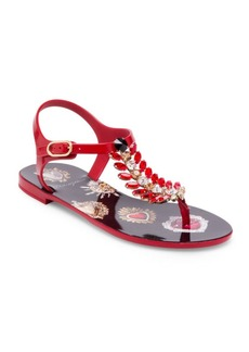 Dolce & Gabbana Jeweled Thong Sandals