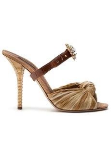 Dolce & Gabbana jewelled buckle mule sandals